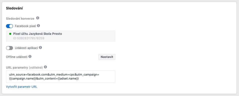 Nastavení sledování konverzí ve Správci reklam Facebook