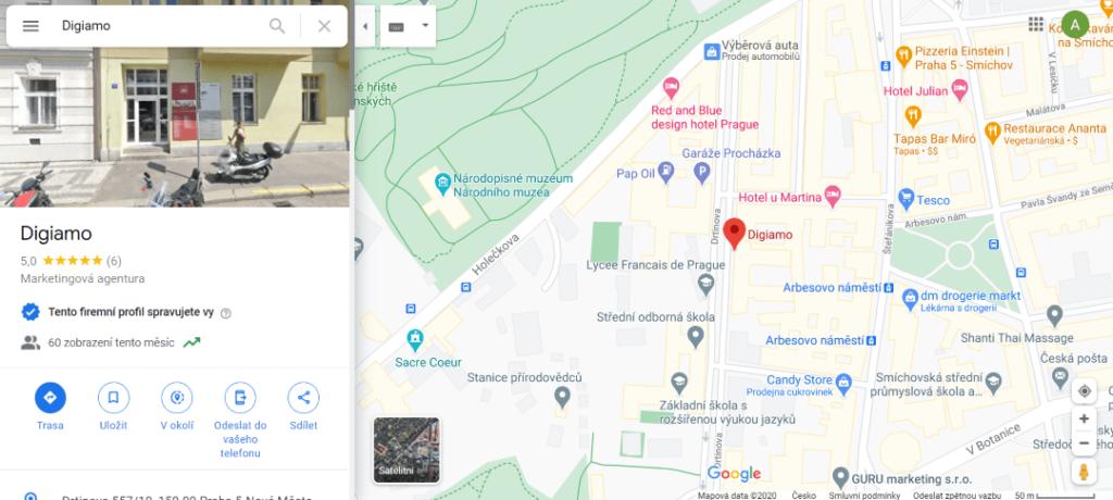 GMB zápis v mapách